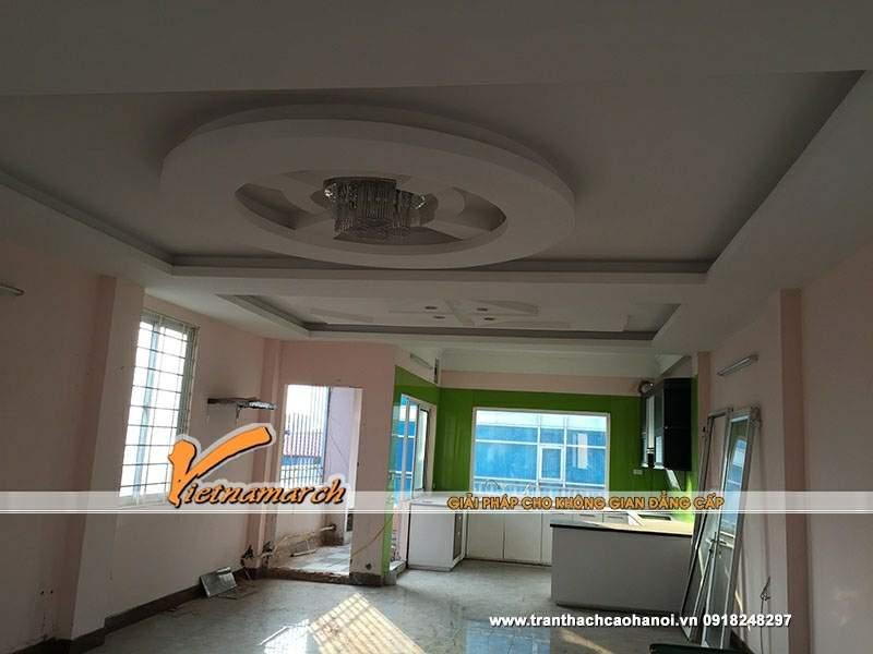 Thiết kế trần thạch cao phòng khách 01