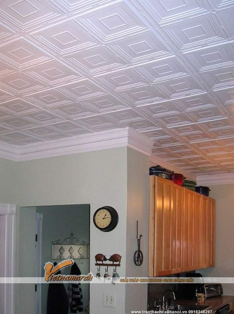 Thiết kế trần thạch cao phòng bếp 04