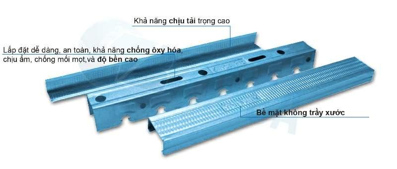 Khung xương Zinca chất lượng và giá cả cạnh tranh cũng được Vietnamarch thường xuyên sử dụng