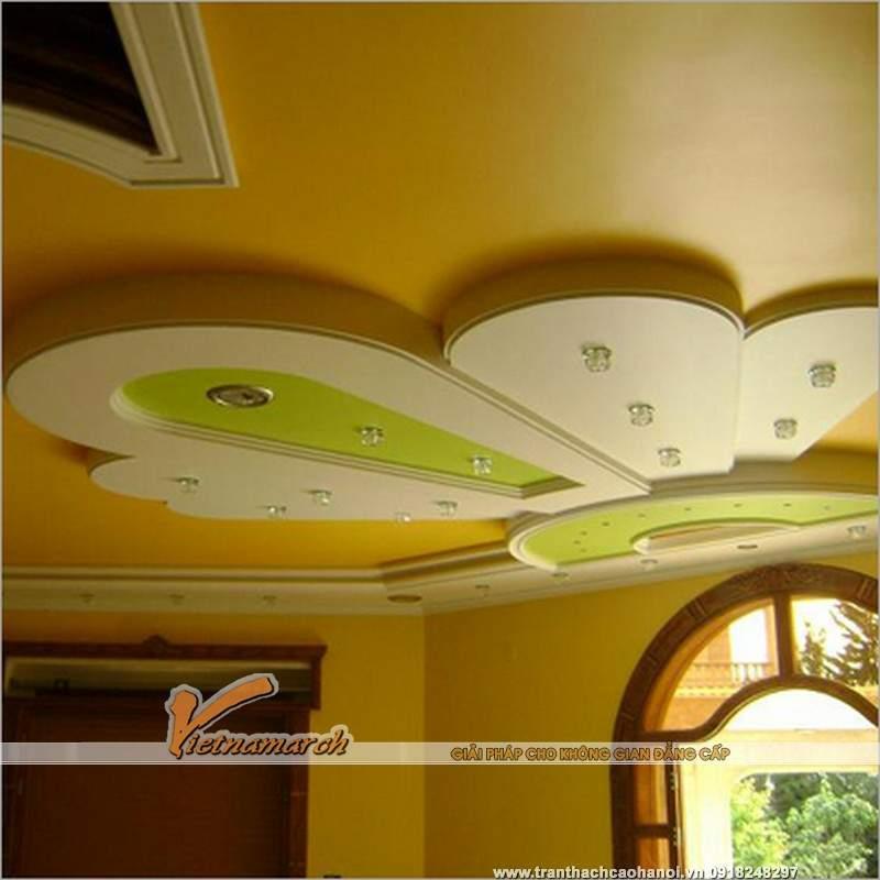 15 Ý tưởng thiết kế trần nhà đẹp từ trần thạch cao 04