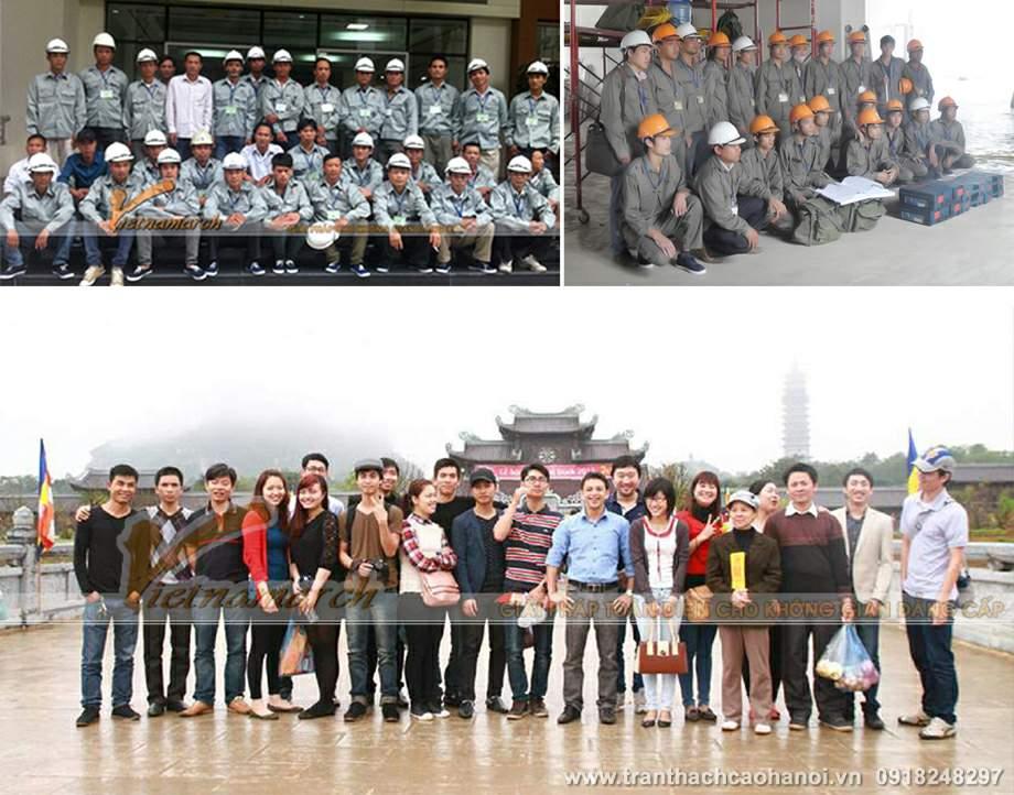 Đội ngũ nhân viên, kỹ sư, thợ thi công trần thạch cao của Vietnamarch