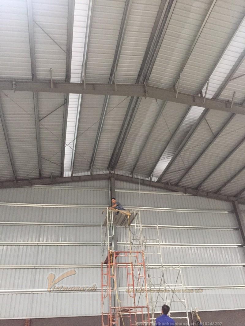 Thi công trần vách thạch cao cho nhà máy nhà xưởng 01