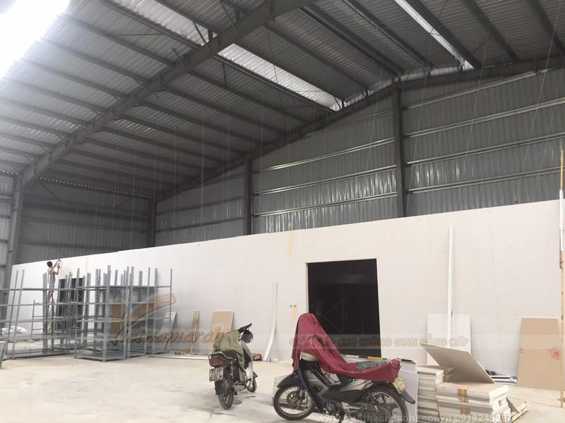 Thi công trần vách thạch cao cho nhà máy nhà xưởng
