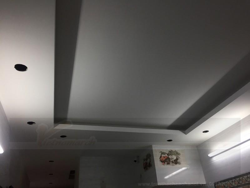Thiết kế trần nhà hoàn thiện nhà phố 6 tầng ở Hà Đông