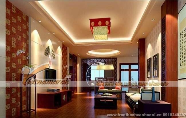 trang trí trần thạch cao cho phòng khách thoáng đẹp