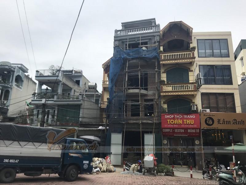 Khảo sát thi công trần thạch cao nhà 5 tầng tại Thanh Liệt