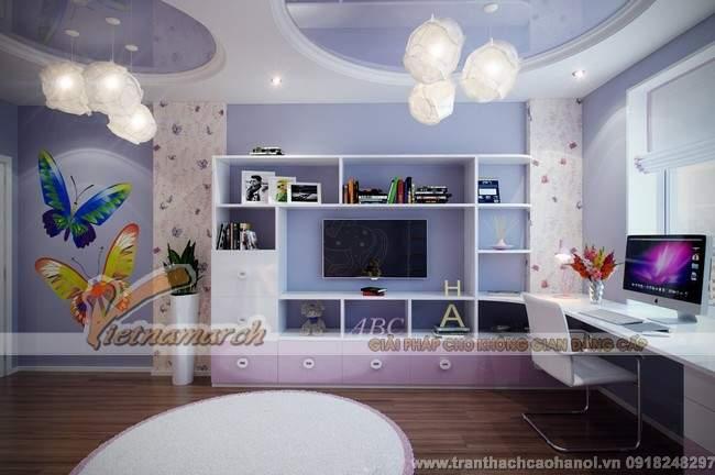 Thiết kế trần thạch cao đẹp và dễ thương cho phòng ngủ trẻ em3