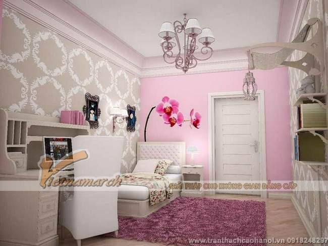 Thiết kế trần thạch cao đẹp và dễ thương cho phòng ngủ trẻ em2