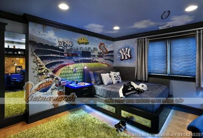 Thiết kế trần thạch cao đẹp và dễ thương cho phòng ngủ trẻ em5