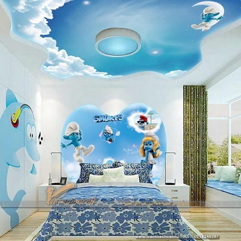 Thiết kế trần thạch cao cho phòng ngủ bé gái cực xinh-04